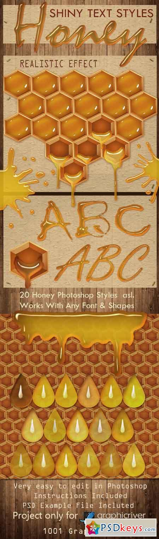 30 HoneyText Effect PS Styles asl.- Full Pack 20422546