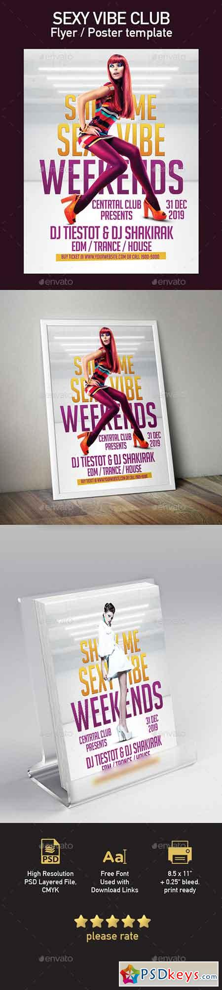 Sexy Vibe Club Flyer Poster Template 20413867