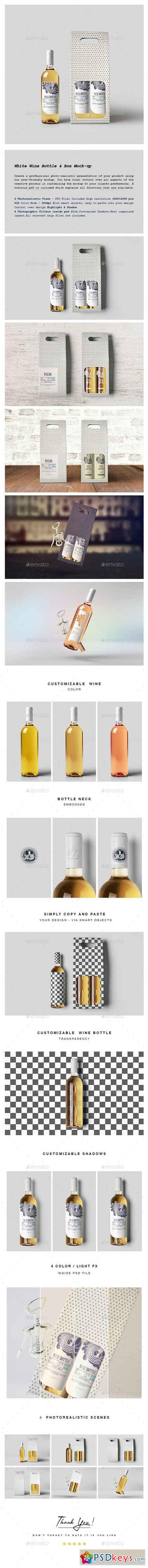 White Wine Bottle and Box Mock-up 20442890