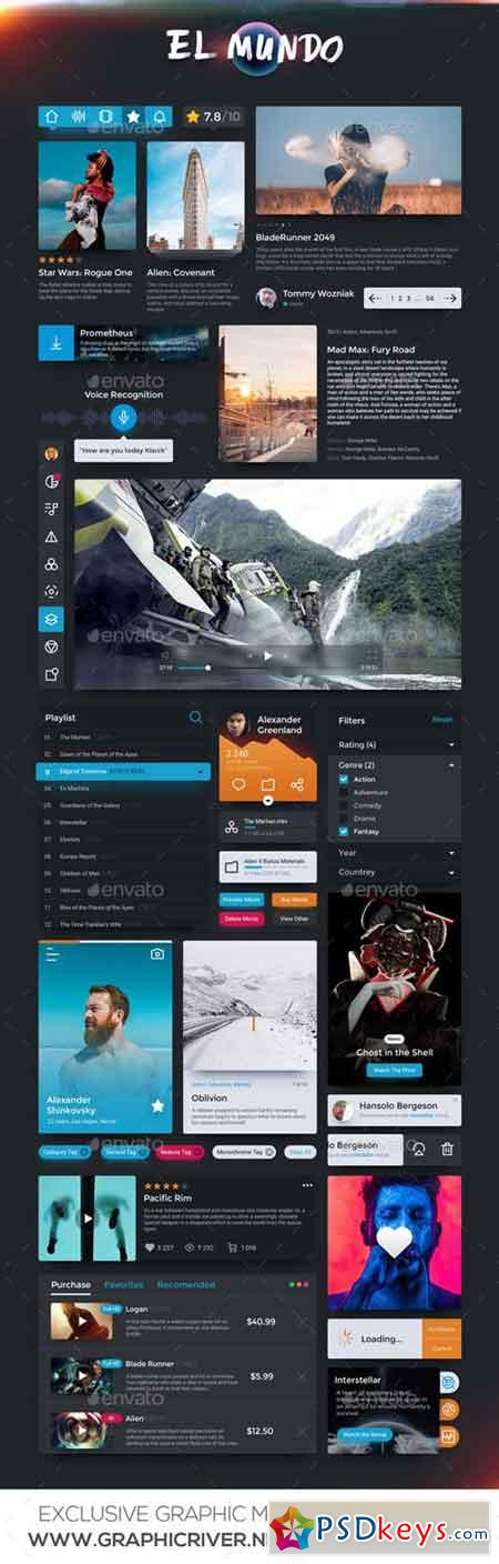 EL Mundo - Universal Desktop and Mobile UI Kit 20451094
