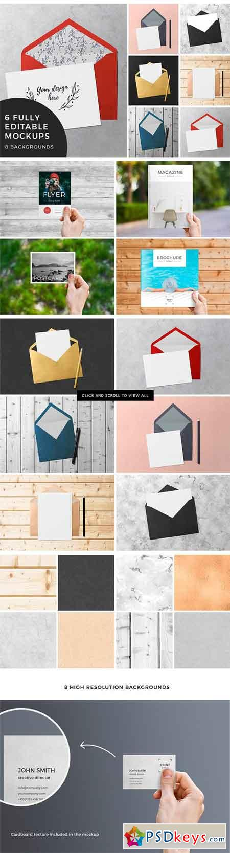 2 in 1 Print Mockups Bundle 1680414