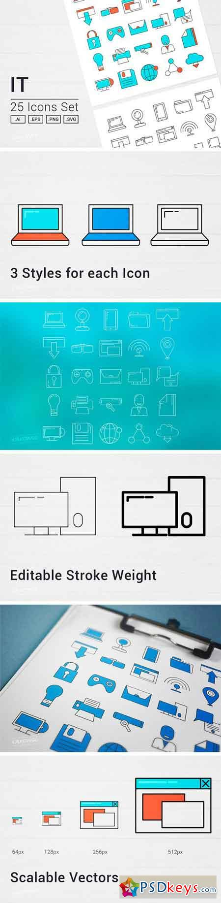 IT Services Vector Icon Set 1687863