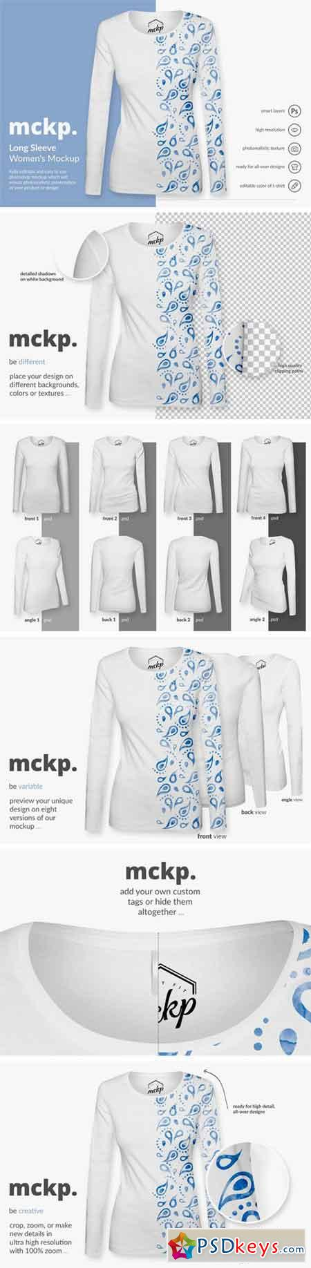 Long Sleeve by mckp - Women's Mockup 1667125
