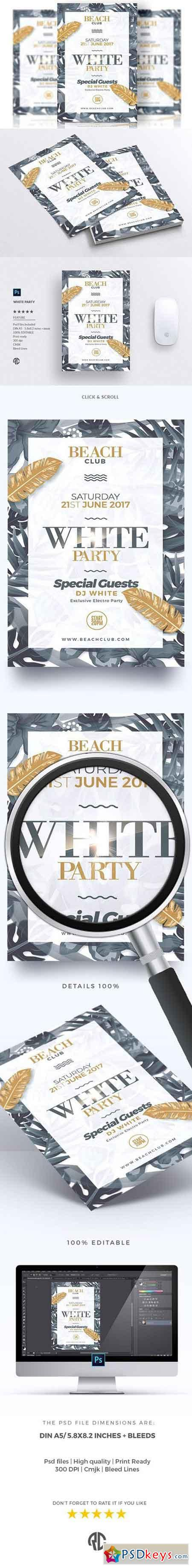 White Party - Flyer Template 1673490