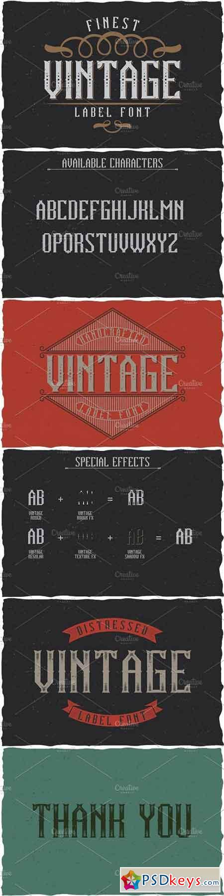 Vintage Classic Look Label Typeface 1664194