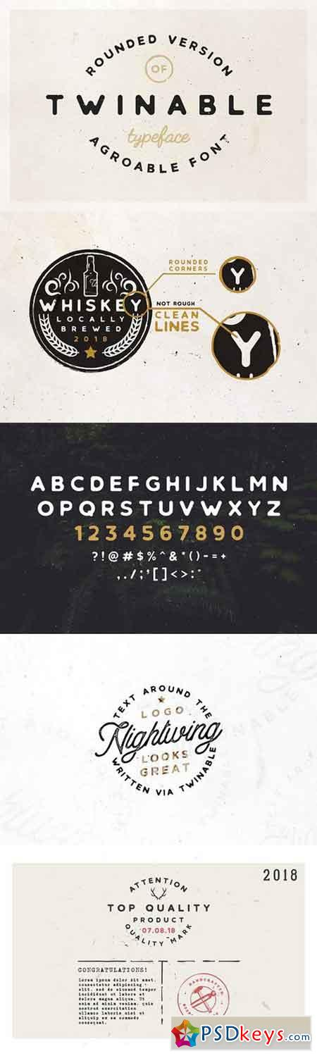 Twinable - Rounded Retro Font 1663826