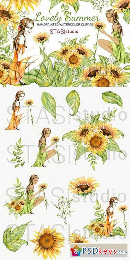 Summer Fashion Girl Clipart 1636231