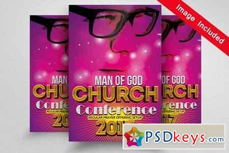 Man Of Faith Church Flyers 1674370