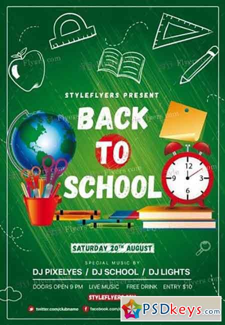 back to school flyer template free