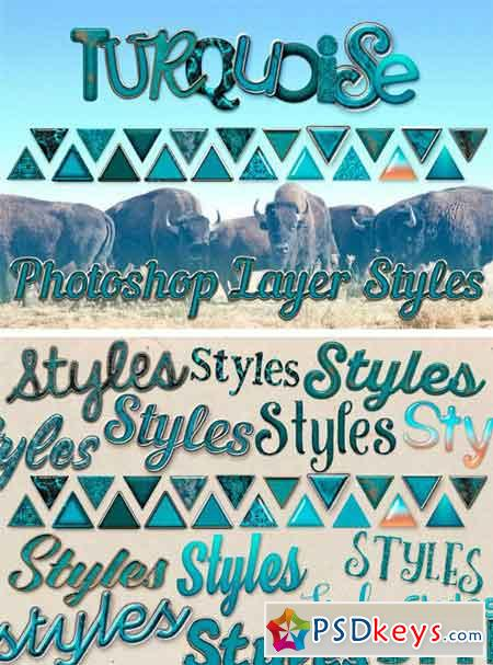 20 Turquoise Photoshop Layer Styles 1708077