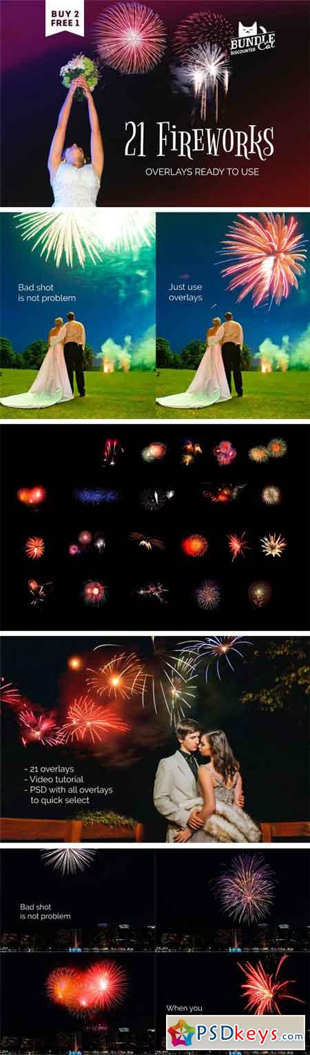 21 Firework Photo Overlays 1724257