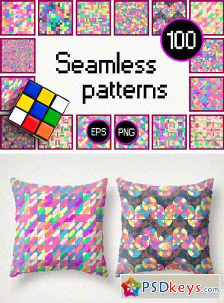Vector BIG Seamless Patterns SET M 1682127