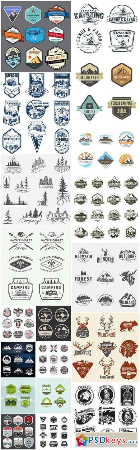 Adventure And Expedition Logo Badges - 20 Vector
