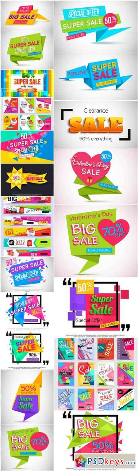 Promotional Sale Sanner Set #13 - 20 Vector