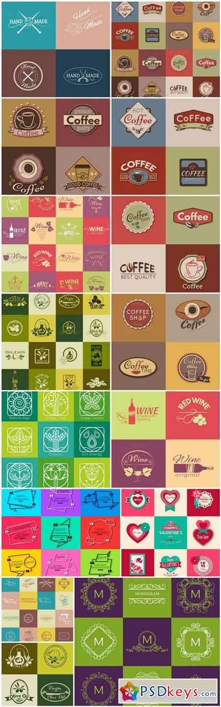 Different Labels And Stickers #145 - 15 Vector