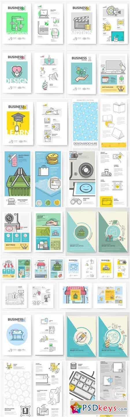 Creative Business Brochure Template - 20 Vector