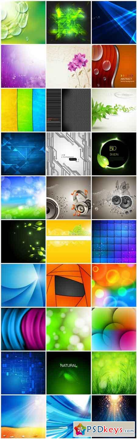 Abstract Background Collection #213 - 30 Vector