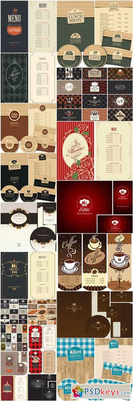Restaurant Template Design - 25 Vector