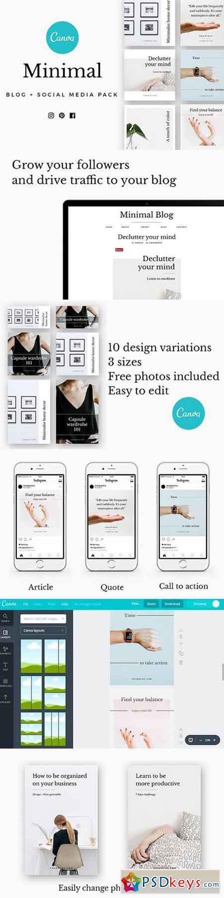 CANVA Minimal Social Media Pack 1663542