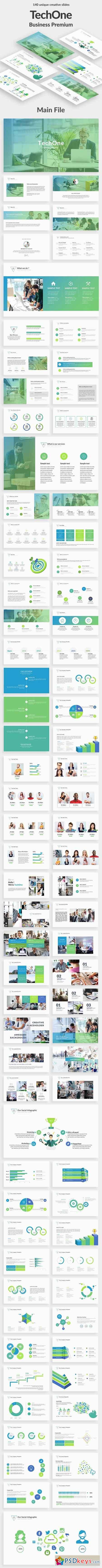 TechOne Business Powerpoint Template 20470022