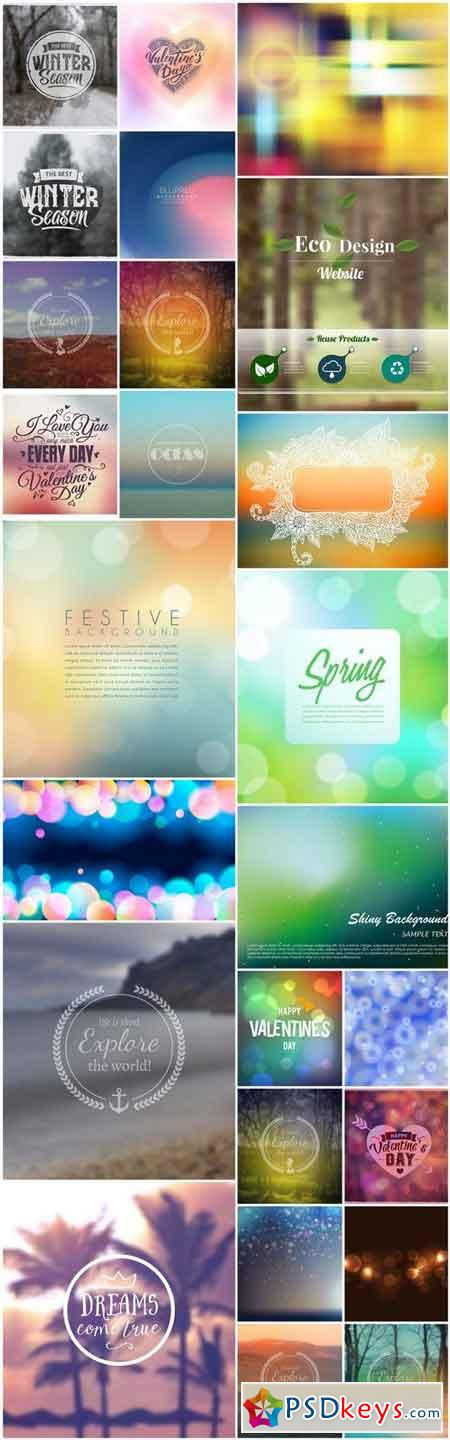 Blur Unfocused Background - 25 Vector