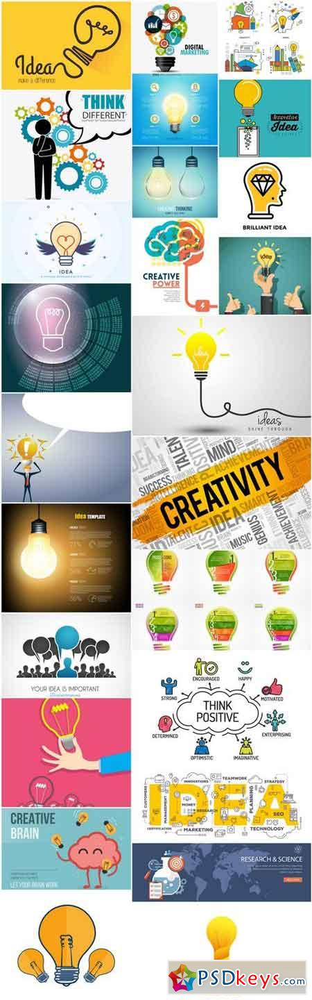 Creative Idea Brainstorm #2 - 25 Vector