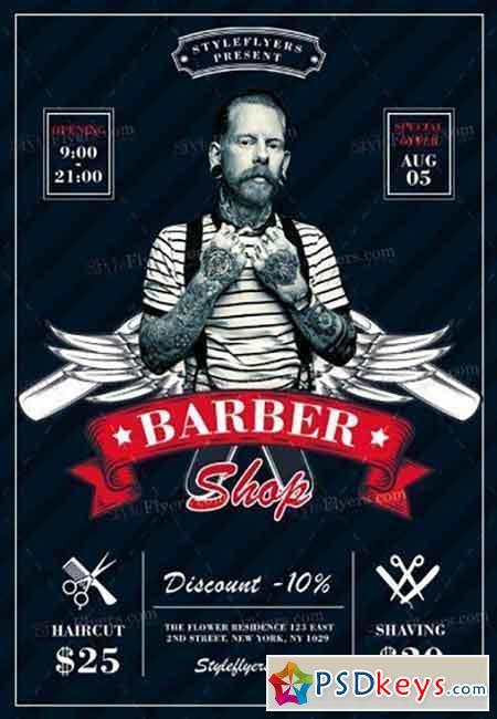 Barbershop V03 PSD Flyer Template
