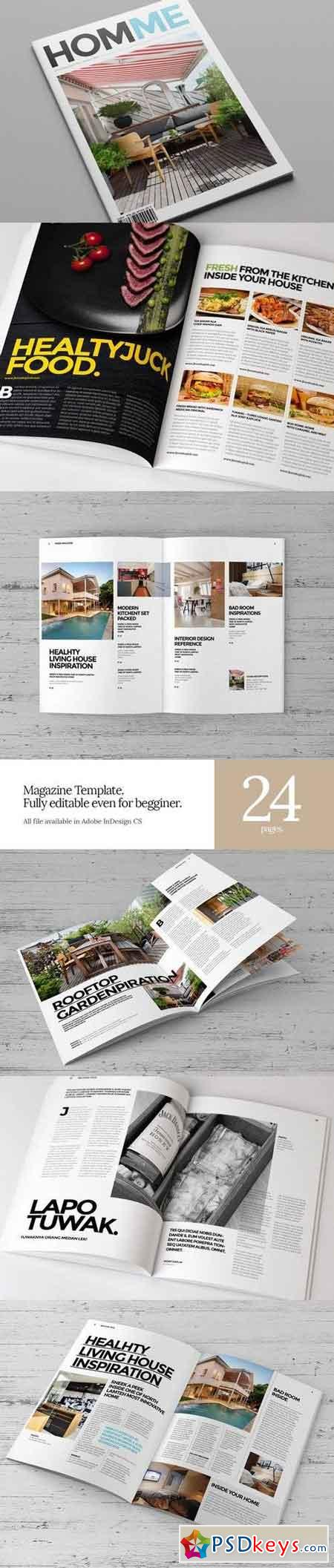 InDesign Magazine Template 6