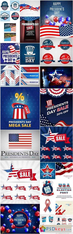 Happy Presidents Day USA #2 - 25 Vector