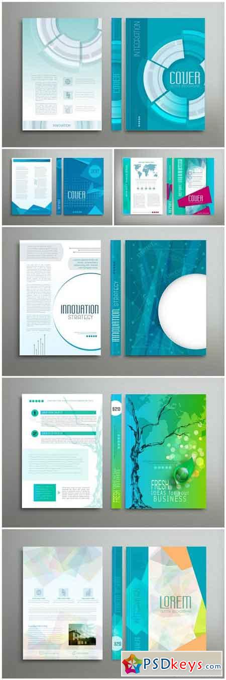 Business Template Set Brochure #3 - 6 Vector