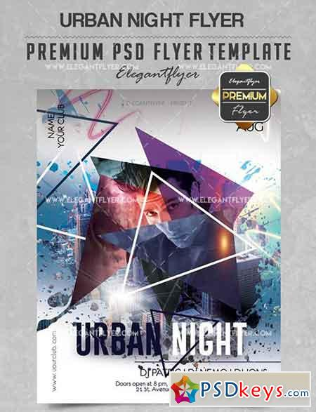 Urban Night V02 – Flyer PSD Template + Facebook Cover
