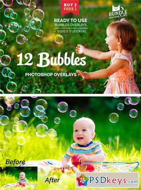 12 Soap Bubbles Photo Overlays 1724003 » Free Download Photoshop