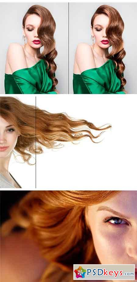 Hair Shine Photoshop Action 1724603