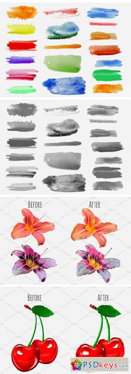 Watercolor Brushes Set 1723584
