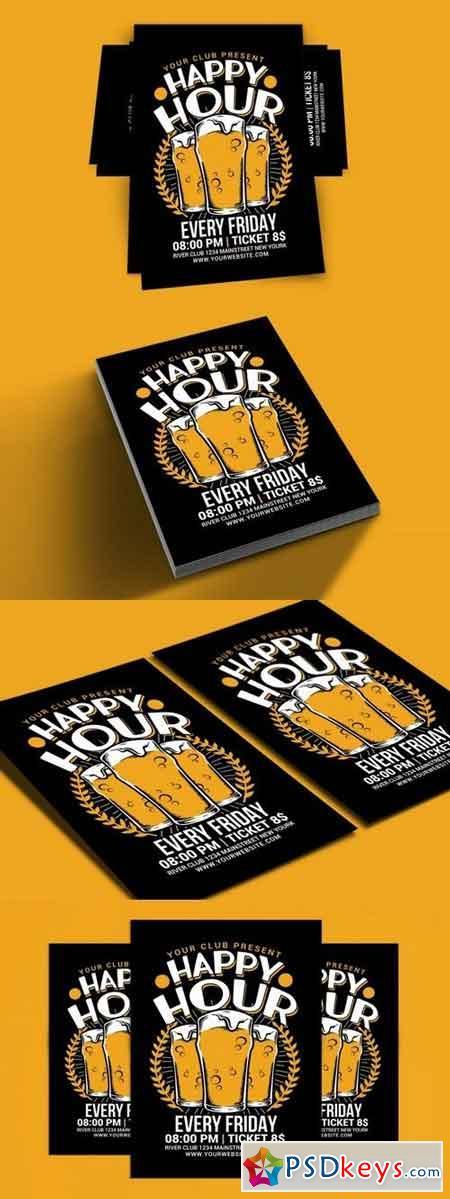 Happy Hour Beer Flyer 85514