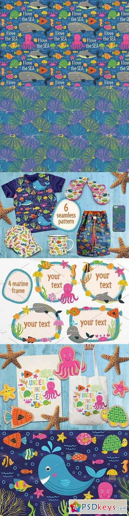 marine animals set 1664467