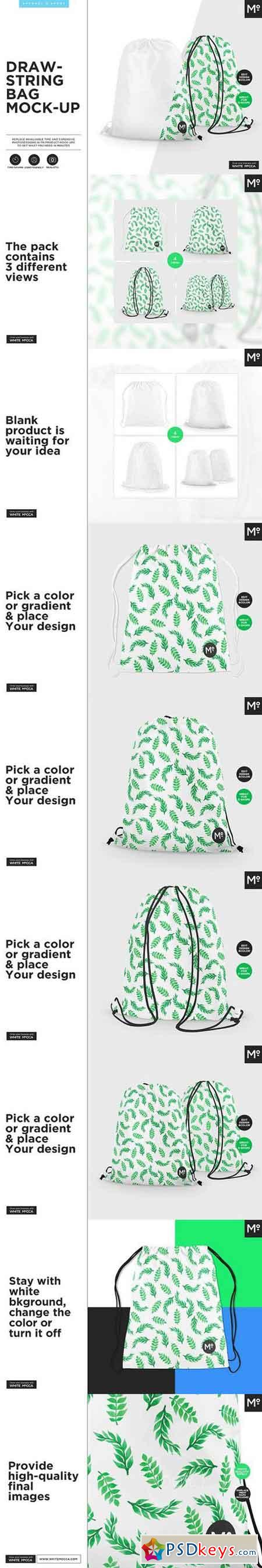 Drawstring Bag Mock-up 1674808