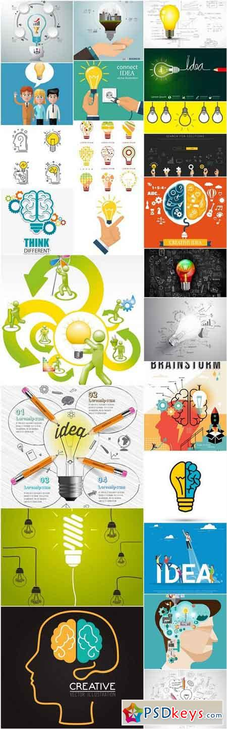 Creative Idea Brainstorm - 25 Vector