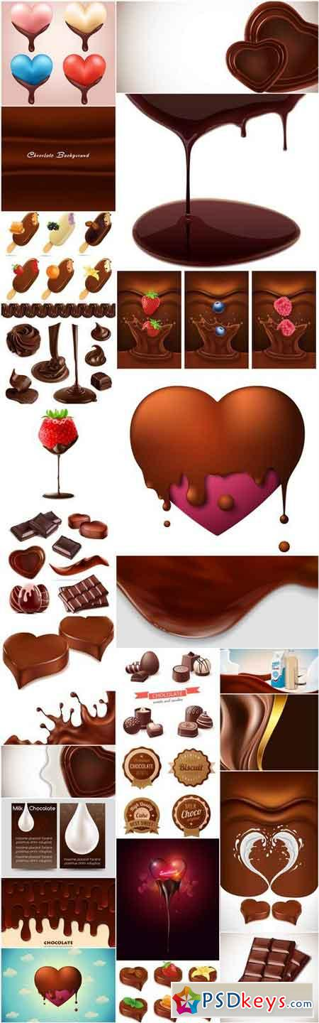 Chocolate Sweets - 25 Vector