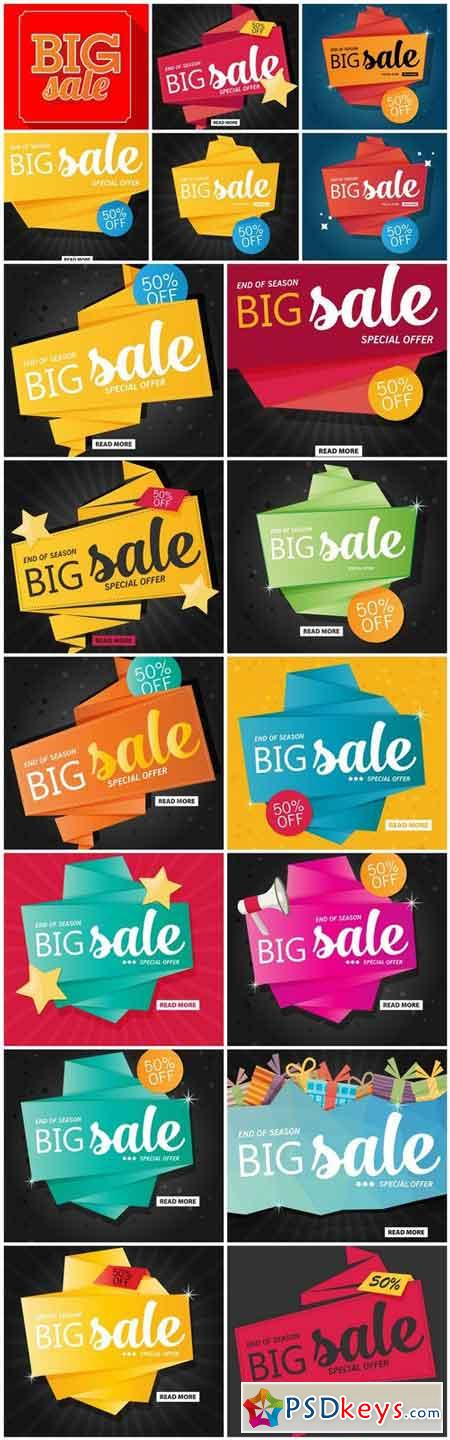 Promotional Sale Sanner Set #11 - 18 Vector