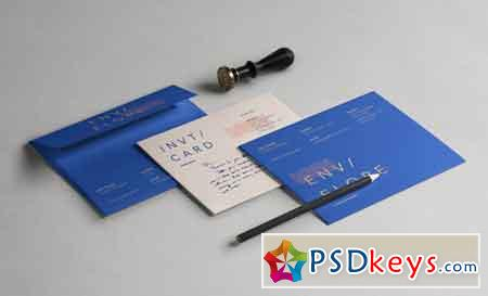 Psd Invitation Card Envelope Mockup