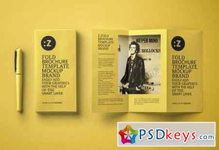 Z fold psd brochure mockup us a4 free download photoshop for A4 brochure template psd free download