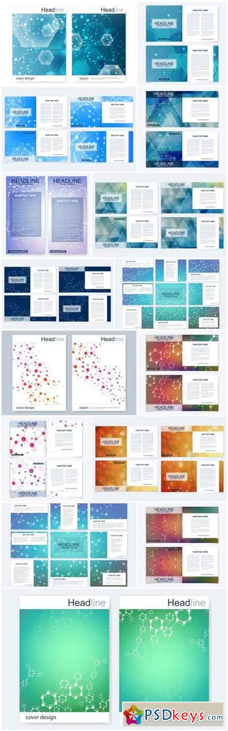 Abstract Set Of Business Template #3 - 15 Vector