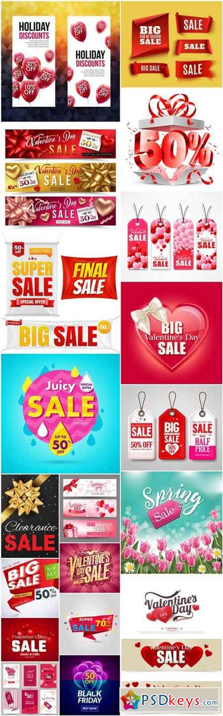 Promotional Sale Sanner Set #10 - 20 Vector