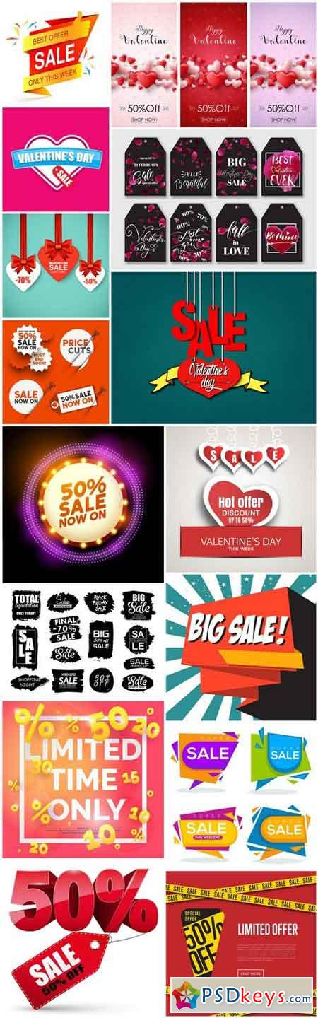 Promotional Sale Sanner Set #9 - 15 Vector