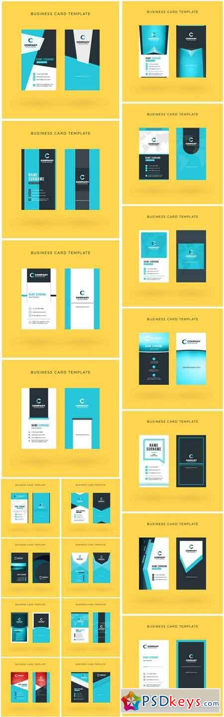 Business Card Design #144 - 19 Vector