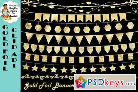 Gold Foil Bunting Clip Art 1615127