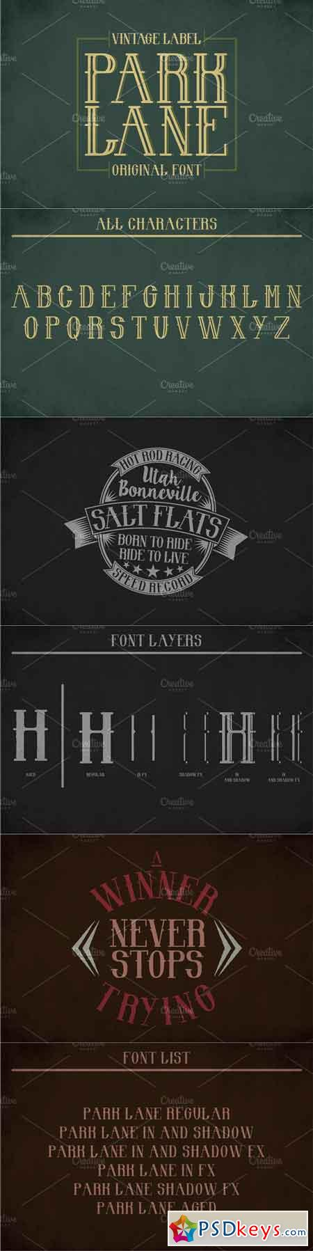 Park Lane Vintage Label Typeface 1722116