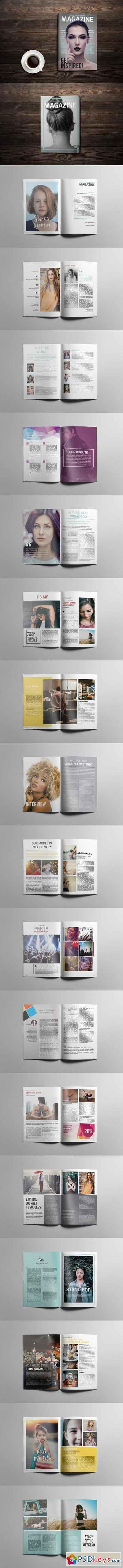 Indesign Magazine Template 1697038 » Free Download Photoshop Vector ...