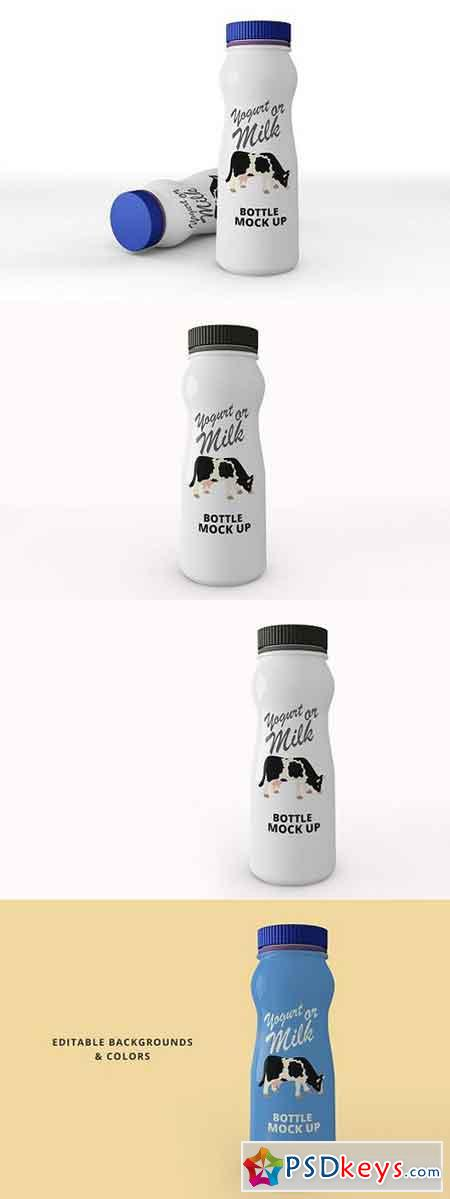 Yogurt Bottle Mockup 1694557